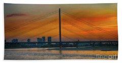 Bridge On The Rhine River Beach Sheet