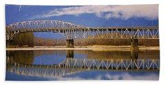 Beach Towel featuring the photograph Bridge Over Calm Waters by Jordan Blackstone