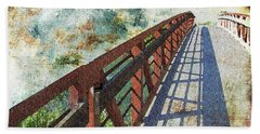 Bridge Over Clouds Beach Towel