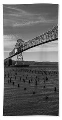Beach Towel featuring the photograph Bridge Over Columbia by Jeff Kolker