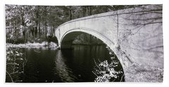 Bridge Over Infrared Waters Beach Towel