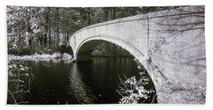 Bridge Over Infrared Waters Beach Towel