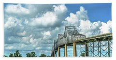 Bridge Over Mississippi River Beach Sheet