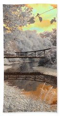 Bridge Reflections Beach Towel