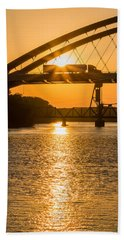 Beach Towel featuring the photograph Bridge Sunrise #2 by Patti Deters