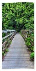 Bridge To Bamboo Forest Beach Sheet