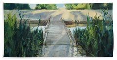 Bridge To Beach Beach Towel