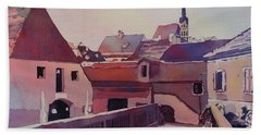 Bridge To Cesky Krumlov Beach Towel