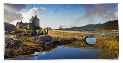 Bridge To Eilean Donan Beach Sheet by Gary Eason