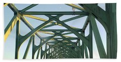 Bridge To Oregom Beach Towel