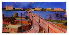 Bridge To Palm Beach Beach Towel