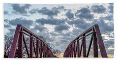 Bridge To The Clouds Beach Towel