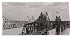 Bridges At Vicksburg Mississippi Beach Sheet by Don Spenner