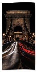 Beach Sheet featuring the photograph Bridges Of Budapest - Chain Bridge by Jaroslaw Blaminsky