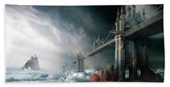 Bridges To The Neverland Beach Towel