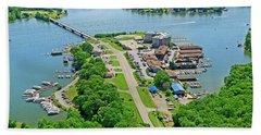 Bridgewater Plaza Aerial Beach Towel
