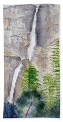 Bridal Veil Waterfall Beach Sheet by Elvira Ingram
