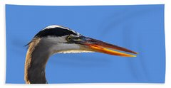 Beach Sheet featuring the photograph Bright Beak Blue .png by Al Powell Photography USA