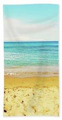 Bright Blue Sea And Sand Beach Beach Towel