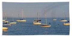 Bright Boats Beach Towel