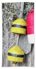 Bright Buoys I Beach Sheet by Marianne Campolongo