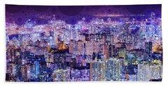 Bright Lights, Big City Beach Towel