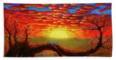 Bright Sunset Beach Towel