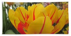Bright Tulip Beach Towel by MTBobbins Photography