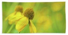 Bright Yellow Flower Beach Sheet