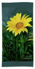 Beach Sheet featuring the photograph Bright Yellow Gazania By Kaye Menner by Kaye Menner