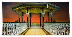 Beach Towel featuring the photograph Brighton's Promenade Bandstand by Chris Lord