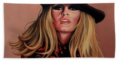Brigitte Bardot Painting 1 Beach Towel
