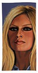 Brigitte Bardot 3 Beach Sheet by Paul Meijering