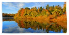 Brilliance Of Autumn Beach Towel