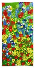 Brilliant Florals Beach Towel by George Riney