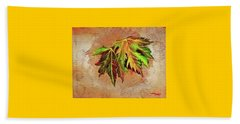 Brilliant Is The Color Of Autumn  Beach Towel by Talisa Hartley