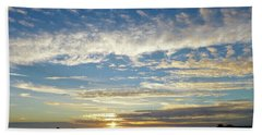 Brilliant Sunset Seacliff, Ca Beach Towel