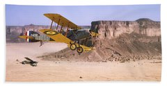 Beach Towel featuring the photograph Bristol Fighter - Aden Protectorate  by Pat Speirs