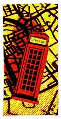 Brit Phone Box Beach Towel