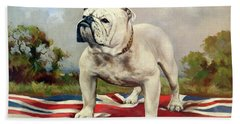 English Bulldog Beach Towels