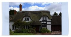Beach Sheet featuring the photograph British Thatched Cottage by Baggieoldboy