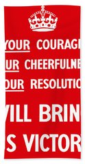British Ww2 Propaganda Beach Towel
