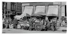 Broad St. Lunch Carts New York Beach Towel