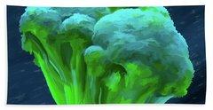 Broccoli 01 Beach Towel by Wally Hampton