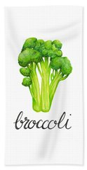 Beach Towel featuring the painting Broccoli by Cindy Garber Iverson