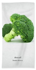 Broccoli Beach Towel by Mark Rogan
