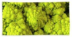 Broccoli Romanesco Close Up Beach Towel