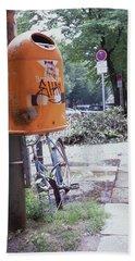 Broken Bike In Berlin Beach Sheet