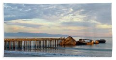 Broken Boat, Ss Palo Alto Beach Towel by Amelia Racca