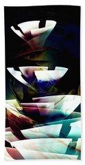 Beach Towel featuring the digital art Broken Glass by Anastasiya Malakhova